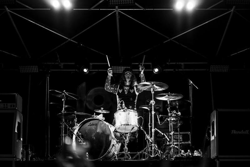 drummer in b&w