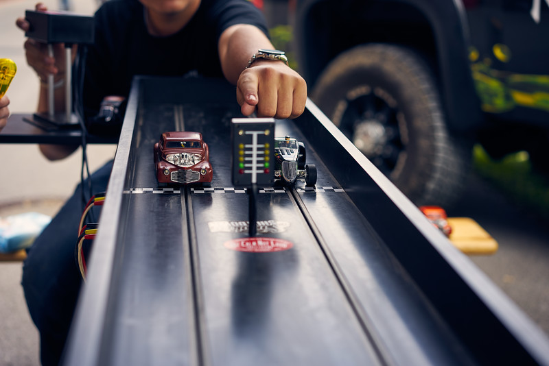 quarter mile slot car racer