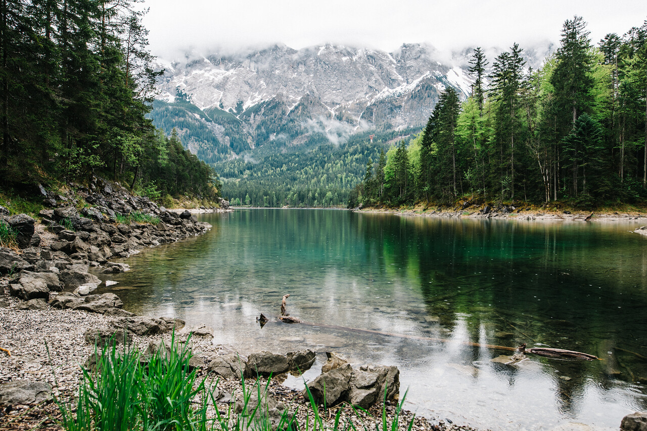 Eibsee + Zugspitze