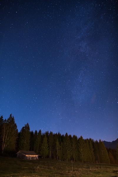 cabin under the stars