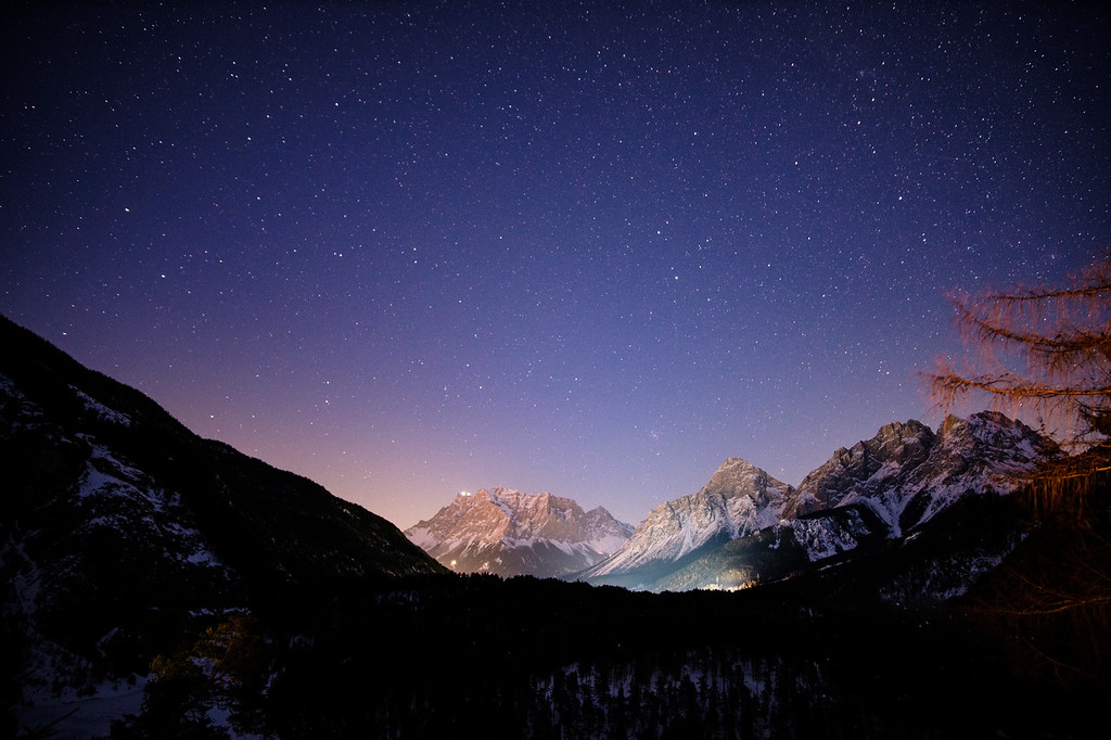 Zugspitze by night