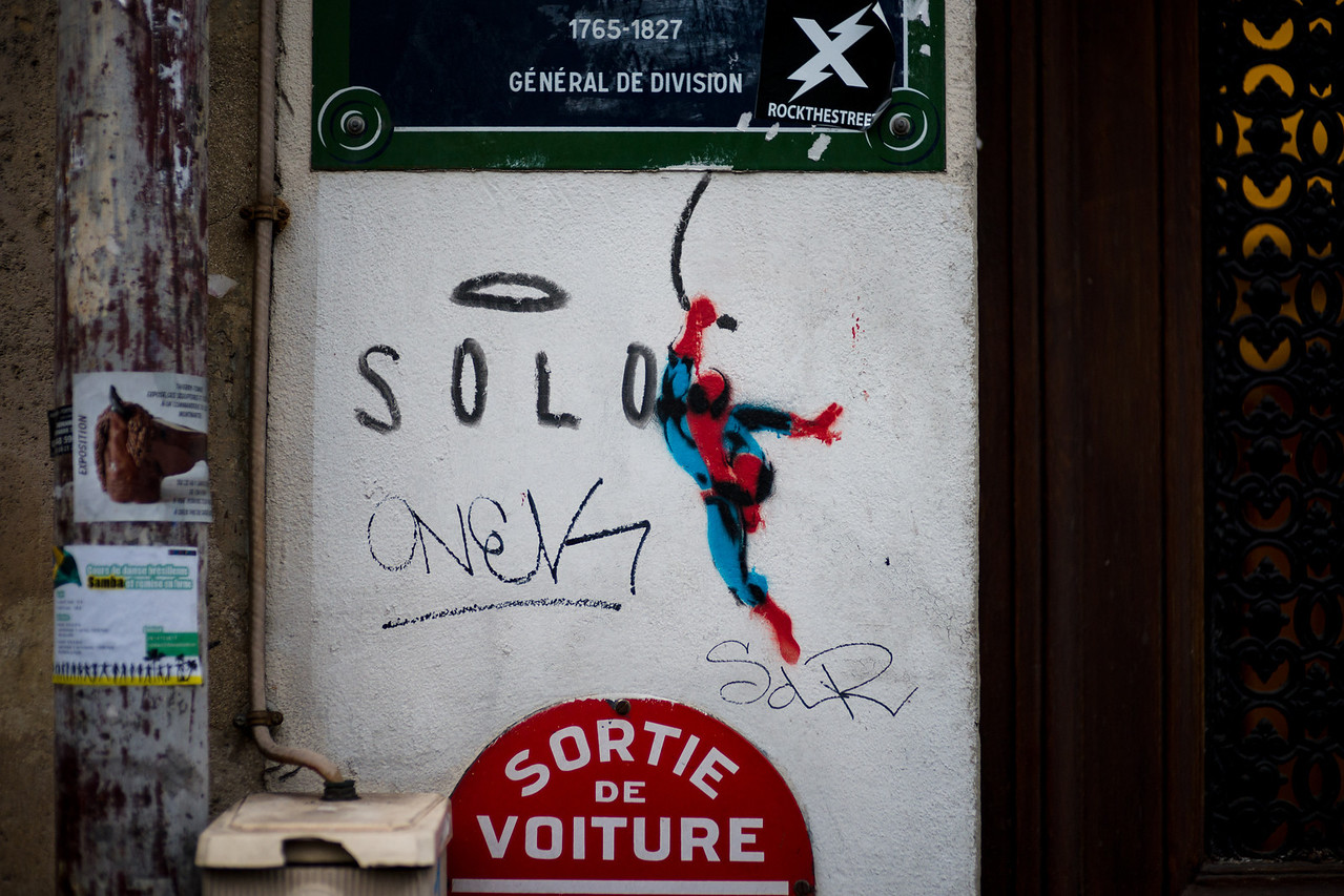 Spiderman in Paris