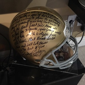 """Signed by the real """"Rudy"""" with the locker room speech!"""