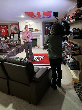 Fox 4 in the house doing an interview!