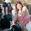 Diver Rachel getting ready to go diving.