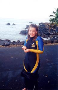 Sis Laura diving at Ahihi Bay (Maui)