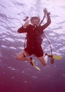 """Grace under pressure"" (Sis Laura diving on Maui)"