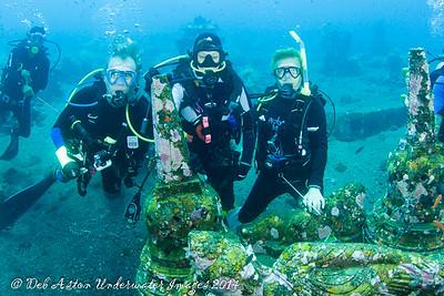 Ted, Tricia and Audrey Coral Garden, Tulamben, Bali