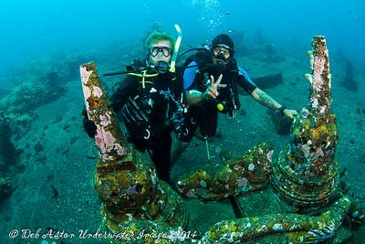 Audrey and Esen Coral gardens, Bali, Tulamben