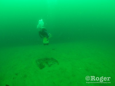 Diver and lobster trap