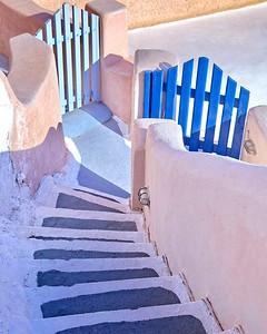 L'escalier bleu qui mène à une certaine idée du paradis...