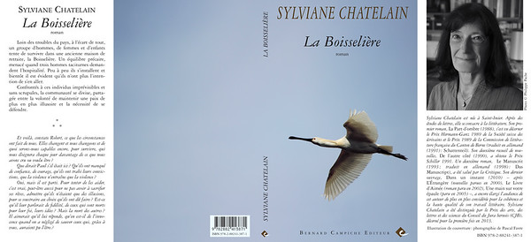 "One of my Spoonbills on the cover of the fantastic novel of Sylviane Chatelain, ""La Boisselière"" (2014)"