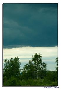 Nuage d'orage menaçant