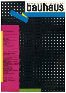 Bretelle / Alfred Halasa, BAUHAUS MONTREAL, 1985