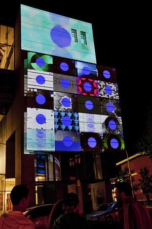 Projections sur la façade