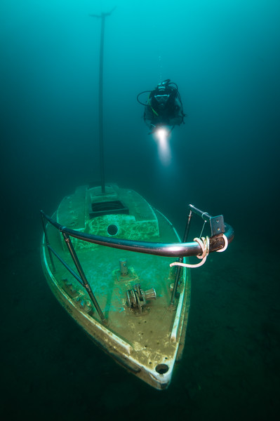 Yacht wreck, Capernwray