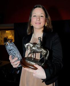 Fabienne De Geer, lärlingschampion 2012 | Årets Hästfest Täby Galopp 130406|  Foto: Stefan Olsson / Svensk Galopp