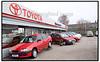 Butikker i København 2004 Toyota bilforhandler.  Foto: Torben Christensen  København ©