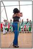 Det gode vejr lokkede mange mennesker til Kulturhavn 2004 på Islands Brygge i København lørdag august 07.2004, hvor der var mulighed for at prøve og overvære mange forskellige aktiviteter, opvisning i sambadans (Foto: Torben Christensen / SCANPIX 2004) .  Foto: Torben Christensen  København ©