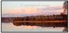 Bagsværd Sø i rød solnedgang.  Foto: Torben Christensen  København ©