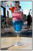 """- KRONPRINSESSE COCkTAIL I SOMMERVARMEN - Yvonne Kubach(foto), indehaver af Y ´s Cafe og Cocktailbar på Nørrevold i København, har creeret en Mary cocktail, Mary """"It"""". Ingredienserne er Danzka Vodka, Bols Blue Curacao likør, Monin Jordbær sirup, mousserende vin og en skive jordbær på kanten af glasset. (Foto: Torben Christensen / SCANPIX 2004.  Foto: Torben Christensen  København ©"""