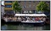 Den sejlende cafe på Christianshavn. Foto: Torben Christensen  København ©