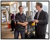 Torsdag d. 15. september modtog den unge dansk opfinder og arkitekt Mads Tveden - Jørgensen anerkendelse for et innovativt projekt, der er skabt i James Dysons ånd. James Dyson Award uddeles hvert år til et menneske, der har skabt en banebrydende nyhed, som kan forene innovation og design. Prisen er en særlig udmærkelse, der skal fremme den forskning, som vil være selve livsnerven for de vestlige samfund fremover. Her Mads Tveden - Jørgensen med sit vinderprojekt O%92C%92N, der er en ny type redningstorpedo til brug for kystredningstjenesten. Mads Tveden - Jørgensen modtager 1500 Euro og er desuden sikret eksponering i lokale og internationale designmedier. Endvidere får den danske vinder også en tur til Dysons hovedkvarter i Malmesbury, England, hvor han i marts 2006 skal repræsentere Danmark i den internationale Dyson Award. Dysons danske direktør Klaus Hansen overrækker prisen. (Foto: Torben Christensen / Scanpix 2005) . Foto: Torben Christensen  København ©