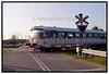Tog i tog overskæring ved Hørve.  Foto: Torben Christensen  København ©