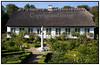 Bernstorffsparken, Bernstorff Slotshave i Gentofte.  Rosenhaven. Den gamle rosenhave i Bernstorff Slotshave er for nyligt blevet restaureret. Rosenhaven er blevet tilplantet med nogle af de historiske rosensorter, som meget vel kan have prydet den i perioden 1854-1898, hvor Christian IX's Dronning Louise boede på stedet. Datidens rosenbede var tilplantet med højstammede roser og slyng- og buskroser af duftende og fyldige sorter. Forsøgsvis vil rosenhaven blive drevet efter historiske metoder og uden brug af sprøjtemidler. . Foto: Torben Christensen  København ©