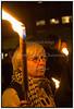 """Mange, unge som ældre, var mødt op da man torsdag d. 9. november markerede årsdagen for nazisternes angreb på jødiske butikker, synagoger og private hjem i 1938. Flere steder i landet gik man i fakkeltog under parolen """"Aldrig mere krystalnat"""", i København fra Nytorv (billedet) til Rådhuspladsen. (Foto: Torben Christensen / Scanpix 2006) . Foto: Torben Christensen  København ©"""