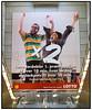 bannerreklame for Lotto Dansk Tipstjeneste ved  fordoblingen af  første præmiepuljen til 10 millioner og Jackpot til 20 millioner . Foto: Torben Christensen  København ©