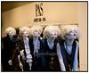 Copenhagen Fashion Week 2006. Hanne Lodberg indehaver af Boutique i Esbjerg, ser på efterårskollektionen 2006 på det tyske modehus Lucies stand på modemessen i Bella Center søndag feb. 11.2006 der er sidste dag af den københavnske modemesse. Helle Lodberg, der har været på messen hver dag siden åbningen, regner med at indkøbe tøj for ca. en million kroner til sin mærkevarebutik i Esbjerg, der udover hende selv beskæftiger ca. 5 ansatte. (Foto: Torben Christensen / Scanpix 2006) . Foto: Torben Christensen  København ©