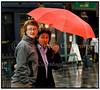 Regnvejr og paraplyer i København 28 08 2006. Foto: Torben Christensen  København ©