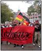 Tyske Frankfurt tilhængere i munter stemning på Kultorvet i København torsdag 28. September 2006 inden kampen mod Brøndby. (Foto: Torben Christensen / Scanpix 2006) . Foto: Torben Christensen  København ©