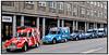 Matthiev Bourges fra Club des Amis de la 2cv Midi - Pyrenees (Citroen 2CVs venner) på sin 2cv under et kort ophold i København tirsdag 31. juli 2007 på vej hjem fra en tur op igennem Sverige og Finland til Nordkap i Norge. Ca.30 CV2 ´er er med på turen, der ialt løber på på 9000 kilometer når de er tilbage i Toulouse i Sydfrankrig.(Foto: Torben Christensen / Scanpix 2007) . Foto: Torben Christensen  København ©