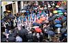 Over 2000 dansere deltager i dagens karnevalsparade der går fra Kgs. Nytorv til Rådhuspladsen i regnvejr lørdag d.26. maj 2007. Pinsekarnevallet, der startede i går, strækker sig over tre dage i pinsen og foregår overvejende i Fælledparken. Paraden i dag betragtes som karnevallets kronjuvel. (Foto: Torben Christensen / Scanpix 2007) . Foto: Torben Christensen  København ©