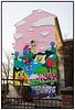 Facadeudsmykning på hus i Berlin af den danske kunstner Husk Mit Navn Foto: Torben Christensen  København © <br /> <br /> . Foto: Torben Christensen  København ©