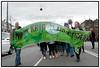 Fredsdemonstration ved den Amerikanske Ambassade lørdag d.15. marts 2008 for at markere 5-året for den USA-ledede koalitions invasion af Irak. (Foto: Torben Christensen/Scanpix 2008).  Foto: Torben Christensen  København ©