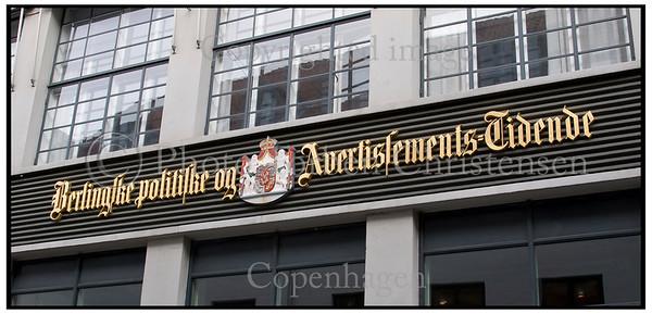 Berlingske Tidende Det Gamle Logo på Bygningen i Pilestræde.  Foto: Torben Christensen  København ©