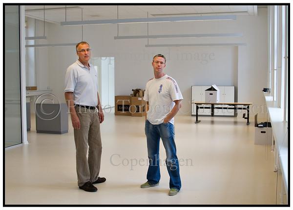 Indflytning på Scanpix nye lokaler i Pilestræde Henrik og Kenneth