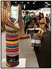 Art Copenhagen Nordens Kunstmesse åbnede fredag 18. september 2009 i Forum. Messen  præsenterer førende gallerier fra Danmark, Norge, Sverige, Finland, Island, Færøerne samt Grønland og er nordens største kunstmesse for samtidskunst og moderne kunst.<br /> <br /> Messen tiltrækker kunstsamlere, kunsthandlere, kunstnere, kuratorer, kunstkritikere og kunstelskere fra hele Europa.<br /> <br /> Her beundrer en lille pige de farvestrålende  skulpturer af kunstneren Anika Lori<br /> .  Foto: Torben Christensen  København ©