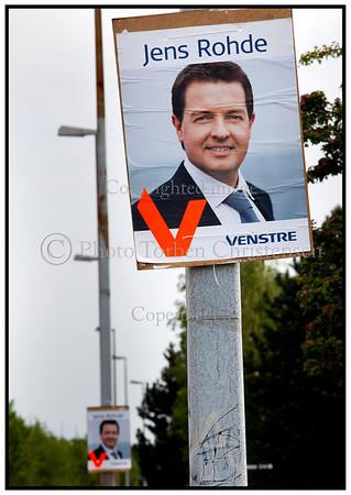 EU valgplakat med Jens RohdeFoto: Torben Christensen  København ©