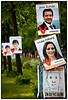 EU valgplakat med Jens Rohde og Louise FeilbergFoto: Torben Christensen  København ©