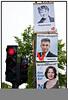 EU valgplakat med Morten Løkkegaard, Maregrethe Auken og Rina Ronja KariFoto: Torben Christensen  København ©