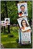 EU valgplakat med Jens Rohde og Louise Feilberg i baggrunden Anne E JensenFoto: Torben Christensen  København ©