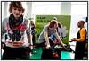 """Deltagere på motionscyklerne på Eksperimentarium lørdag 7. marts 2009 ved starten af den landsdækkende konnkurrence Klima DM hvor alle danskere opfordres til at kæmpe for klimaet med gode ideer til klimaløsninger. I foråret 2009 dyster alle danskere med ideer til klimaløsninger indenfor kategorierne: handling, teknologi og kreativitet om at blive Danmarksmester i klima. Et regionalt dommerpanel udvælger de bedste ideer indenfor hver af de tre kategorier.  De tre gode ideer præmieres med hver 20.000 kr. og en plads i den landsdækkende finale, hvor der kæmpes om hovedpræmien 250.000 kr. Se  <a href=""""http://www.klima-dm.dk"""">http://www.klima-dm.dk</a>.  Foto: Torben Christensen  København ©"""