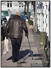 Ældre Gammel mand med stok.  Foto: Torben Christensen  København ©