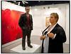 Skulptur af mand betragter publikum da Forum i København  i weekenden 18-19 september var fyldt til bristepunktet med nordisk kunst under Skandinaviens største og førende kunstmesse for international samtidskunst. Art Copenhagen præsenterer næsten 75 førende kunst-gallerier fra Danmark, Sverige, Norge, Finland, Island, Færøerne og Grønland.<br /> Mere end 500 kunstnere, fra samtidskunstens store mestre til de nyeste stjerneskud, er repræsenteret. Udstillingerne viser den højeste kvalitet indenfor maleri, skulpturer, grafik, installationer, fotografi og video.