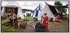 Lille pige farver garn i en gryde  på Riddermarkedet på Esrum Kloster og Møllegård søndag 20 juni 2010. Over 400 udklædte, fortælleglade og levende middelalder-entusiaster på Klosterengen, satter præg på weekenden.  I flæng kan nævnes riddere, tempelherrer, falkonerer, kræmmere, gøglere, landsknægte, munke, lædersmeden, smykkemageren, spåkonen, instrumentmageren, rebslageren og smeden, historiefortællere, slagsbrødre, trubadurer, bueskytter, kanonerer, kællinger, krigere… . Photo: Torben Christensen © Copenhagen, Foto: Torben Christensen  København ©