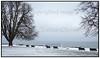 Tomme bænke på Bellevue Strand der er  dækket af sne i januar 2010 <br /> <br />  . Photo: Torben Christensen © Copenhagen, Foto: Torben Christensen  København ©